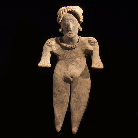 "Colima ""Flat"" Standing Fe4male Figure"