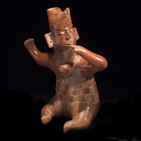 Colima seated shaman figure