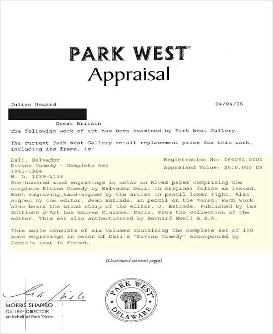 Does This Park West Appraisal Conform To Current Standards - You