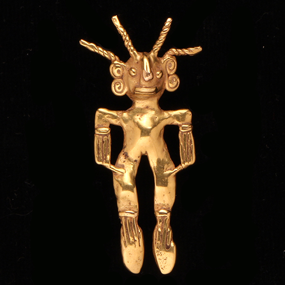 C063 Gold Figurative Pendant