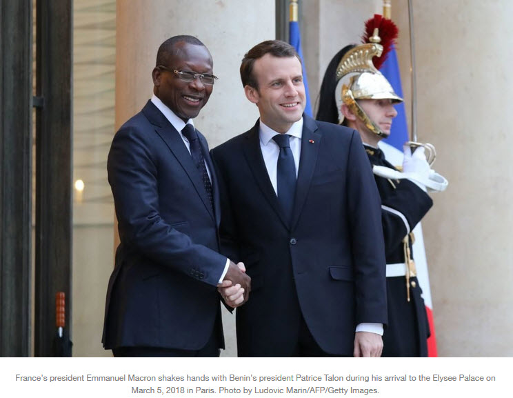 Benin President Talon and Macron.jpg
