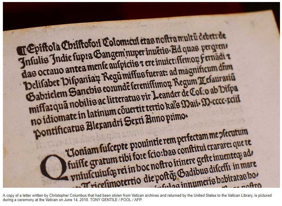 US returns Christopher columbus letter.jpg
