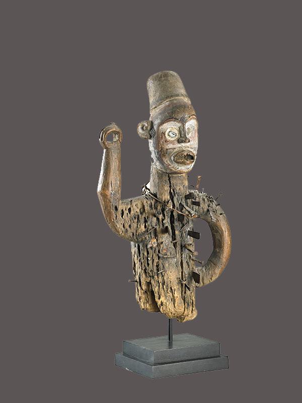 Kongo Nkisi Nkonde Power Figure, Collected 1909, Democratic Republic of the Congo