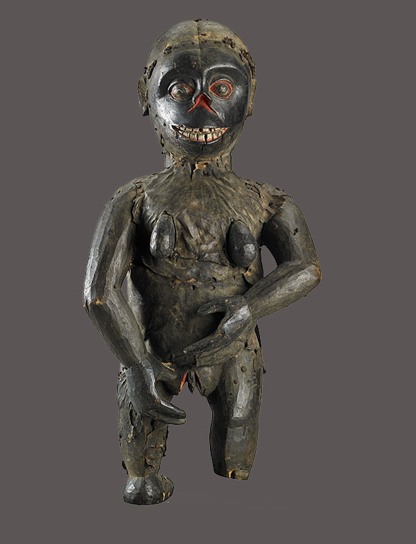Lot 44. Allen Stone Auction. October 19, 2018  IBIBIO, EBOK MONKEY STATUE, NIGERIA   Estimate:  $20,000 - $30,000