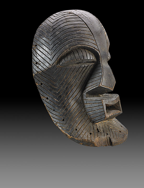 Lot 96. Allen Stone Auction. October 19, 2018  LUBA-SONGYE, KIFWEBE MASK, CONGO   Estimate:  $100,000 - $150,000