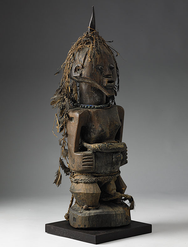 Lot 104. Allen Stone Auction. October 19, 2018  SONGYE, COMMUNITY POWER FIGURE, CONGO   Estimate:  $20,000 - $40,000