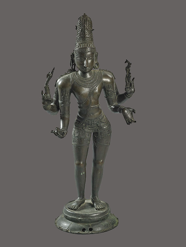 Lot 209. Allen Stone Auction. October 19, 2018  SHIVA SCULPTURE, SOUTH INDIA   Estimate:  $800 - $1,200