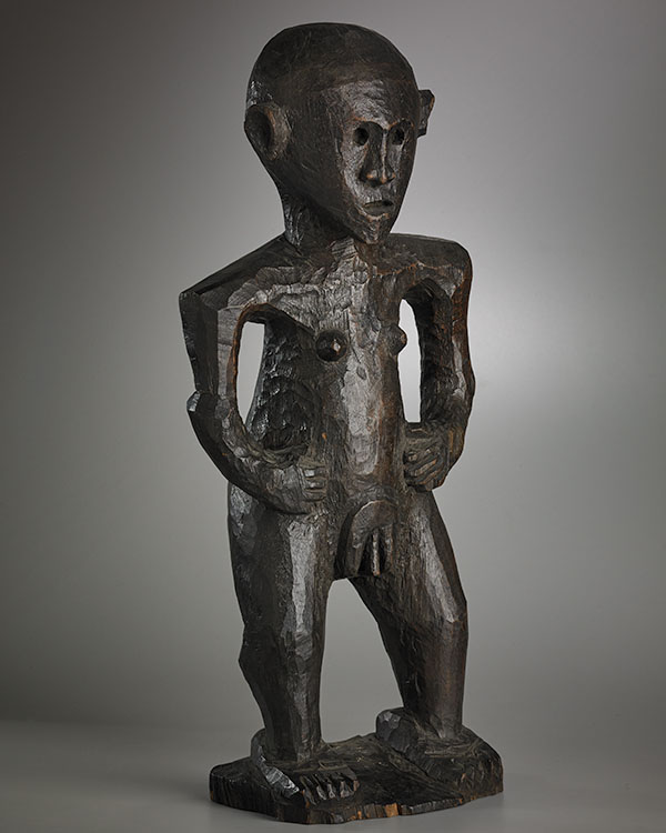 Lot 147. Allen Stone Auction. October 19, 2018  FEMALE ANCESTOR FIGURE, FIJI   Estimate:  $100,000 - $150,000