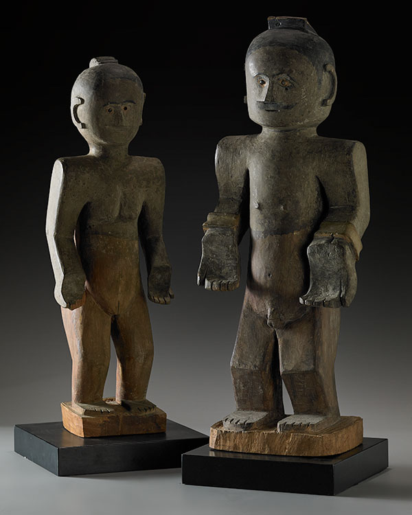 Lot 210. Allen Stone Auction. October 19, 2018  FLORES COUPLE (ANA DEO), INDONESIA   Estimate:  $15,000 - $25,000