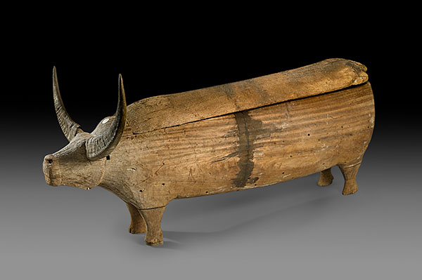 Lot 197. Allen Stone Auction. October 19, 2018  TORAJA, ZOOMORPHIC SARCOPHAGUS (ERONG) CELEBES   Estimate:  $10,000 - $15,000