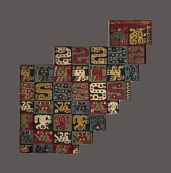 Lot 168. Allen Stone Auction. October 19, 2018  HUARI, MANTLE FRAGMENT, PERU   Estimate:  $1,000 - $1,500
