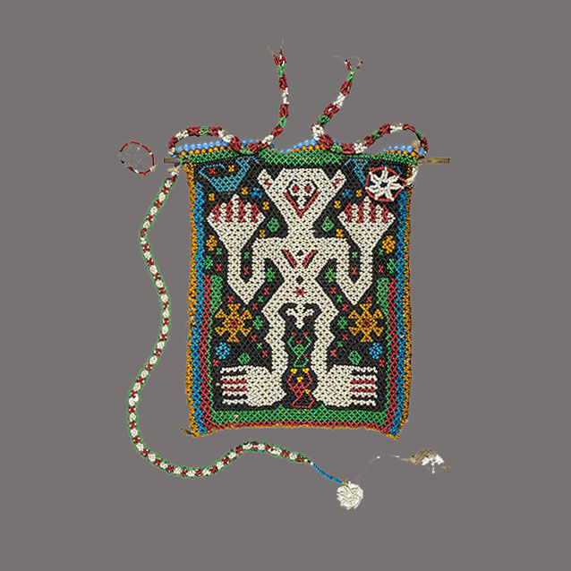 Lot 214. Allen Stone Auction. October 19, 2018  SUMBESE, BEADED BAG, INDONESIA   Estimate:  $200 - $400