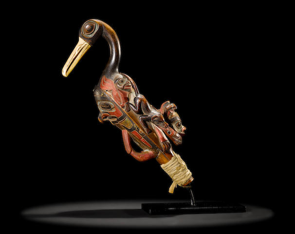 Bonhams Lot 394Y  AN EXCEPTIONAL TLINGIT RATTLE  US$ 100,000 - 150,000