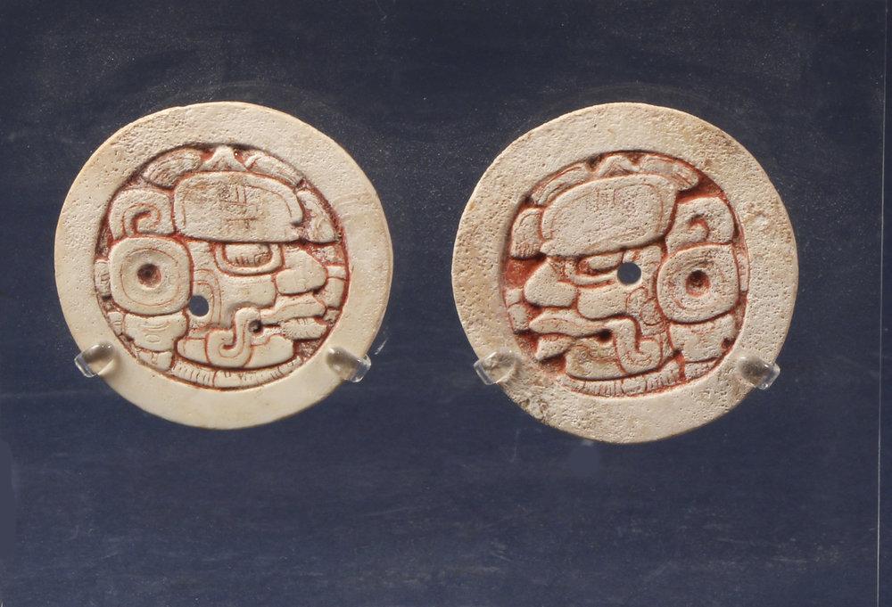 Maya earspool disks AD 600 - 900