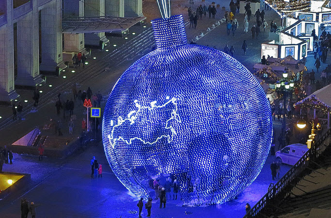 Largest LED Sculpture, Moscow