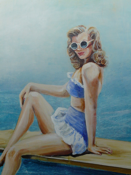 Pin Up Blue