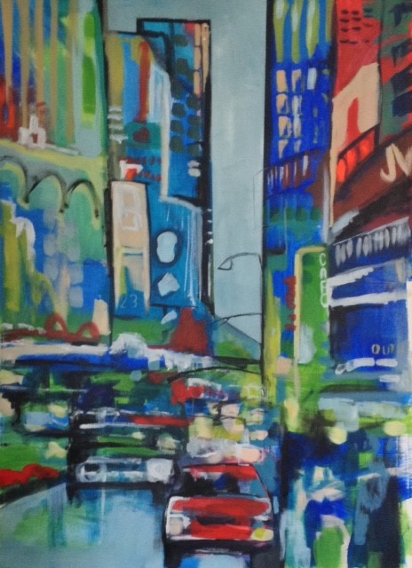 Downtown Blues II 48 x 34
