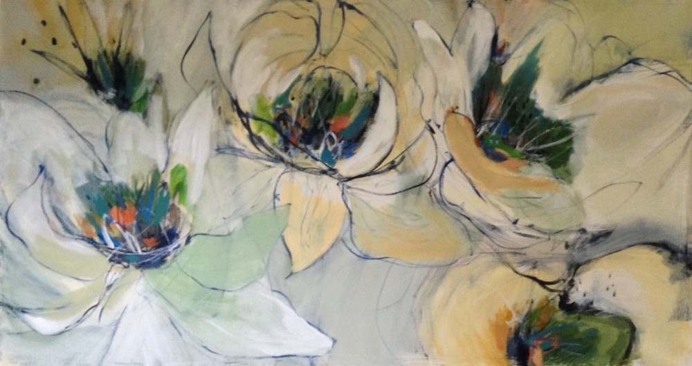 Morning Blooms II 30 x 57