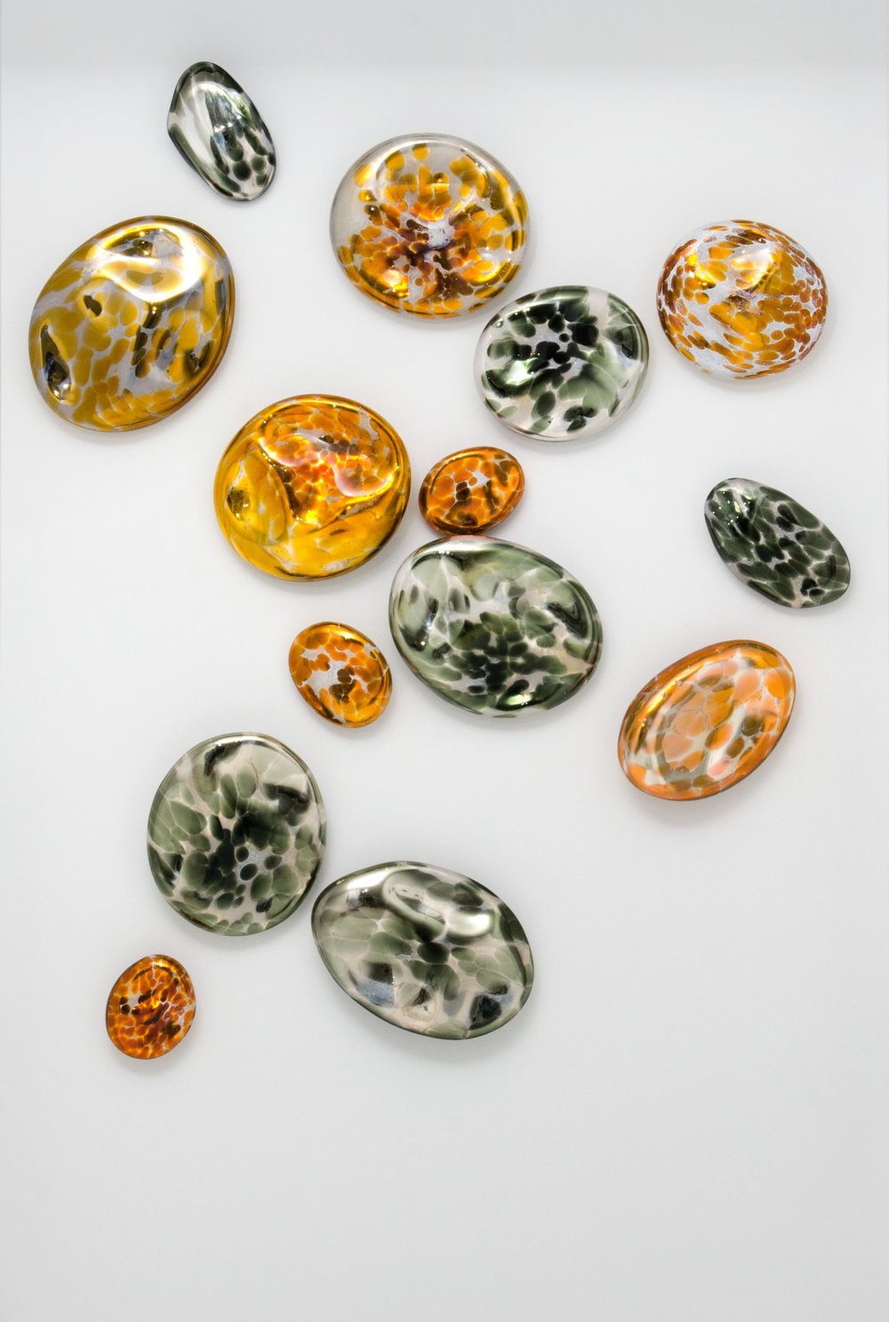 Gold Topaz and Tourmaline Wall Stones