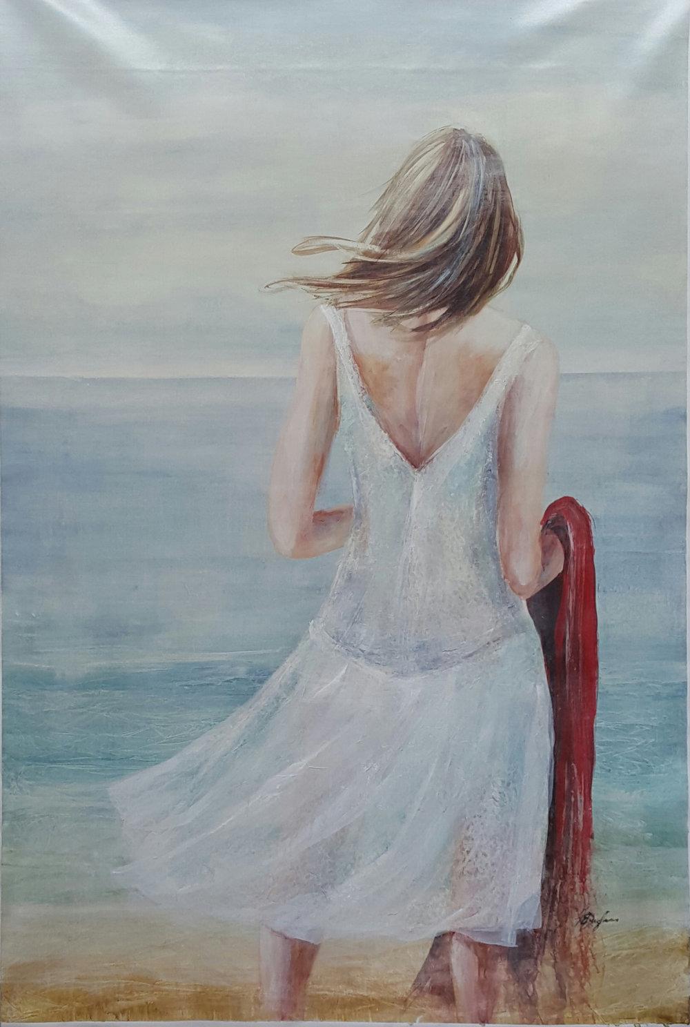 White Dress 60x40