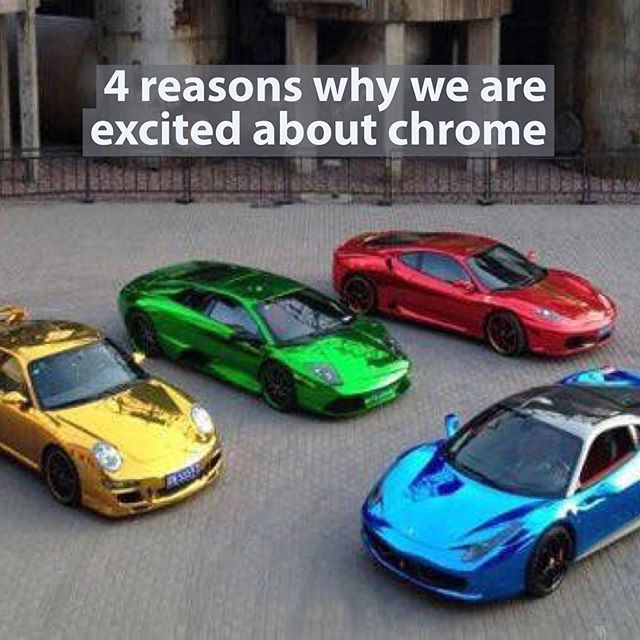 Chrome based colors will be this years evolution in the liquid wrap industry #chromewrap #chromedout #chrome