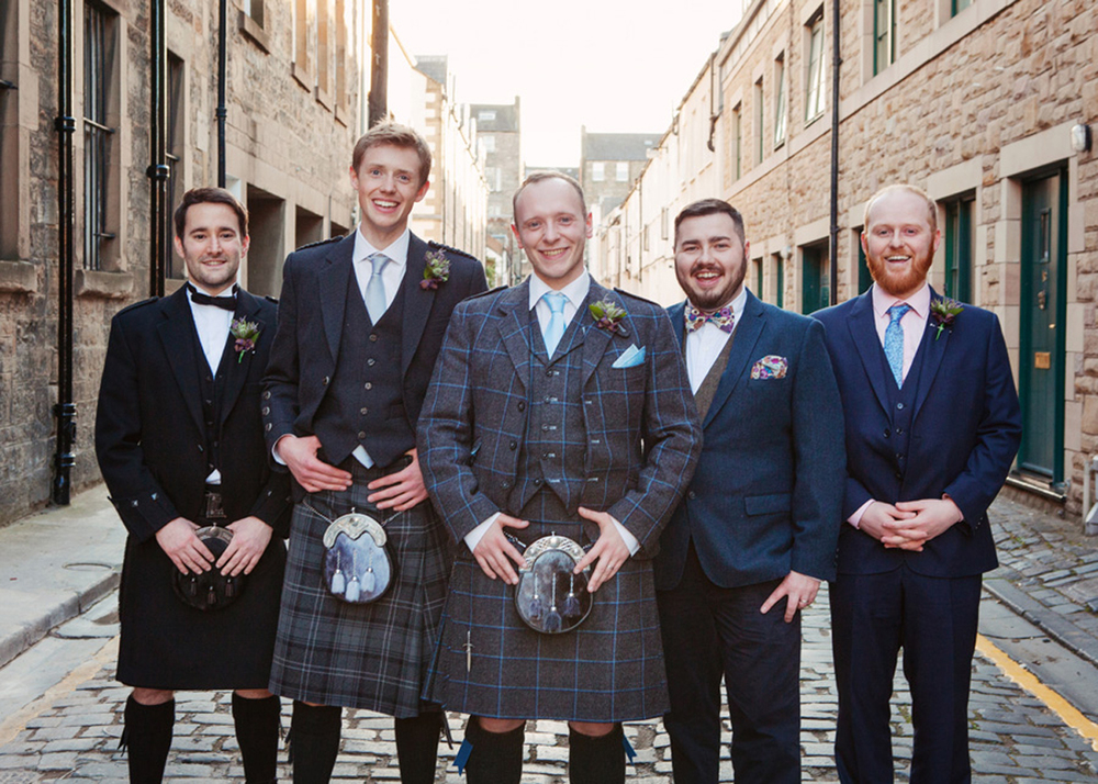 Groom and ushers Edinburgh