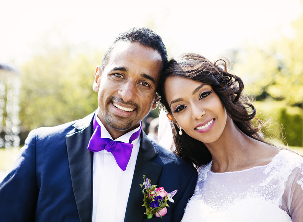 Bride and Groom after Regent's Park wedding