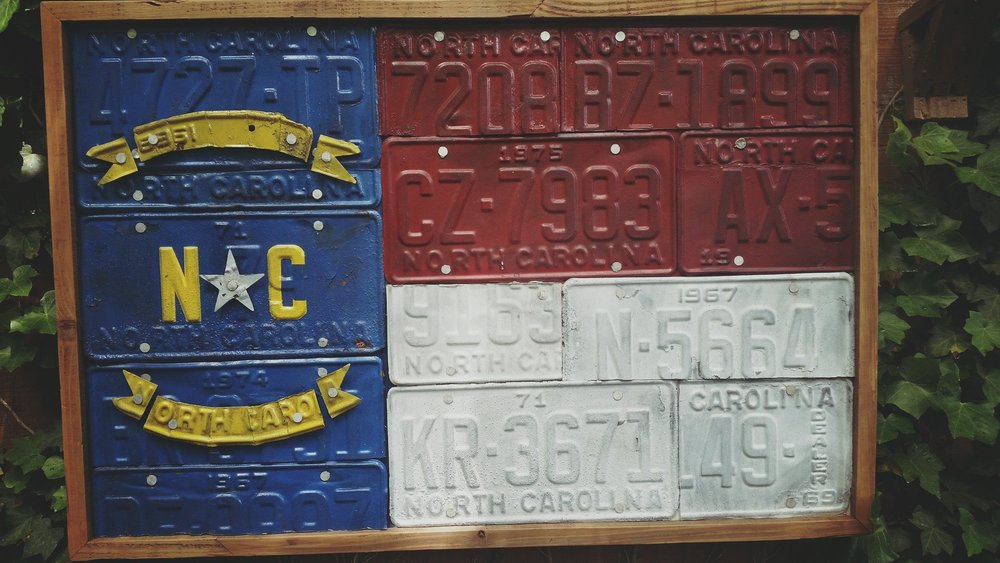 NC License Plate Flag