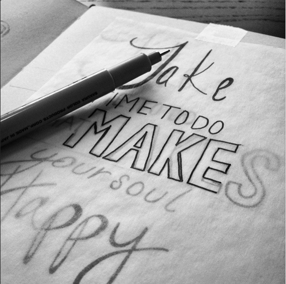 Hand lettering designs are each drawn by hand either with pen & paper or digitally, using creative software. Each design created with a specific project and style in mind.