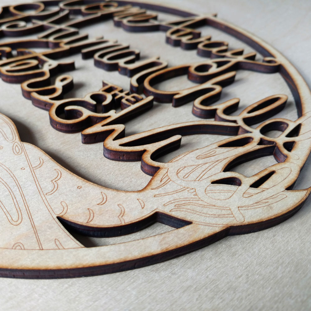 Voorkeur The Stolen Child Laser Cut Wood Sign — Meekly Yours #AT83