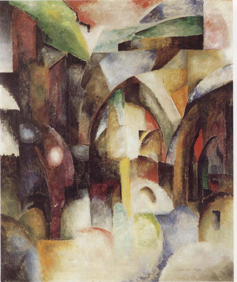 Alexander Exter, Genoa, 1915