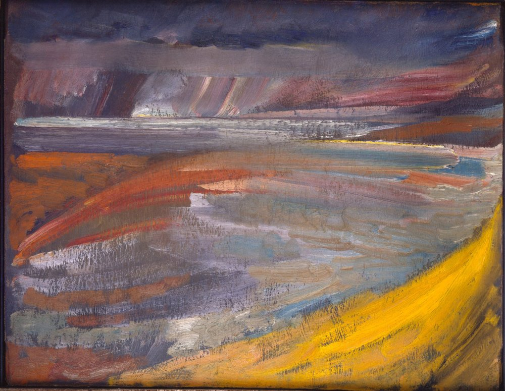 David Bomberg,   Sunset, North Devon 1946