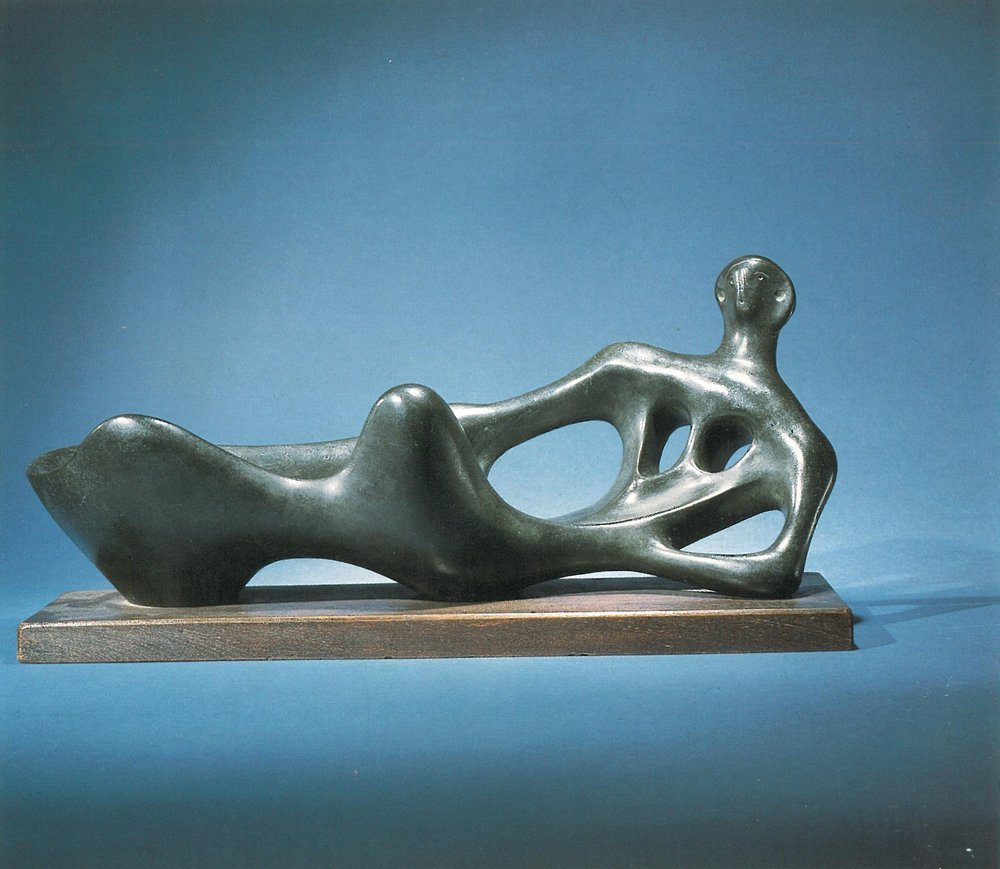Henry Moore, Working Model for reclining Figure, bronze, 1945