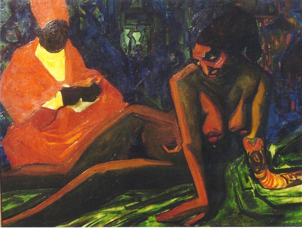 Leon Bakst, Femme du Harem et l'Eunuque, 1910