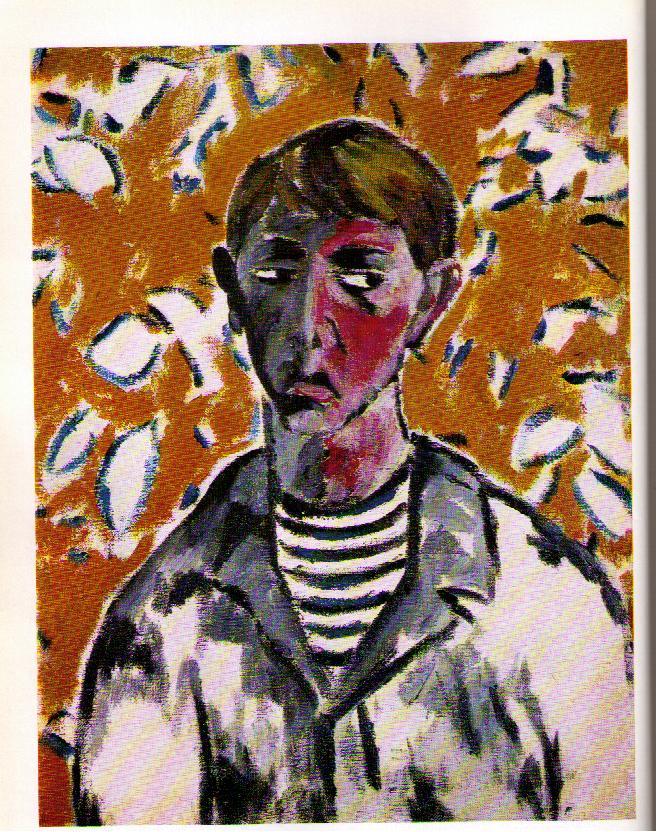 Mikhail Larionov, Portrait of Tatlin, 1910