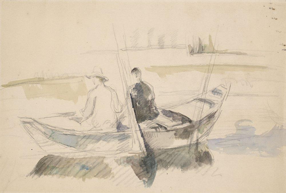 Paul Cezanne, Les Deux Pecheurs, 1875-1880