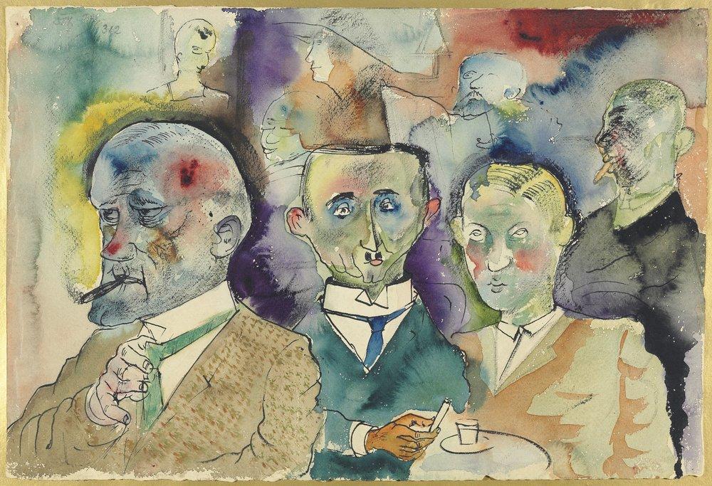 Otto Dix, Cafe Batik, 1923