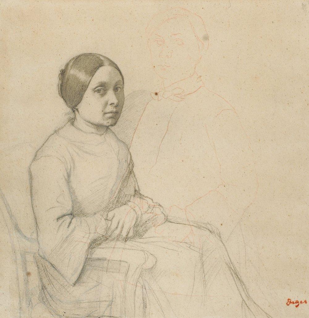 Edgar Degas, Femme assise dans un Fauteuil,1860
