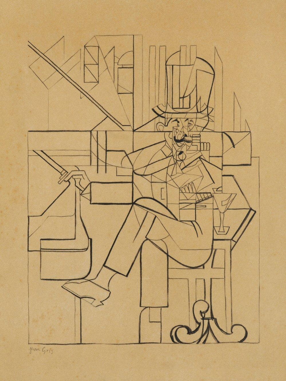 Juan Gris, l'Homme au Cafe, 1912