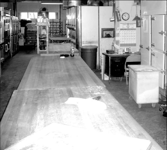 Keller's Bakery tables - photo found online from Linthicum Vignettes by Oscar Skip Booth.