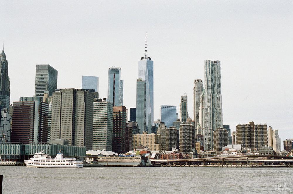 Looking towards Manhattan from Brooklyn.