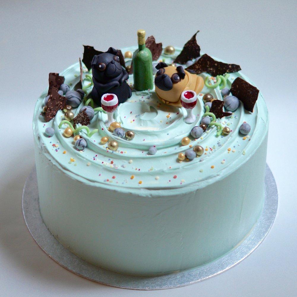 Pug Picnic cake
