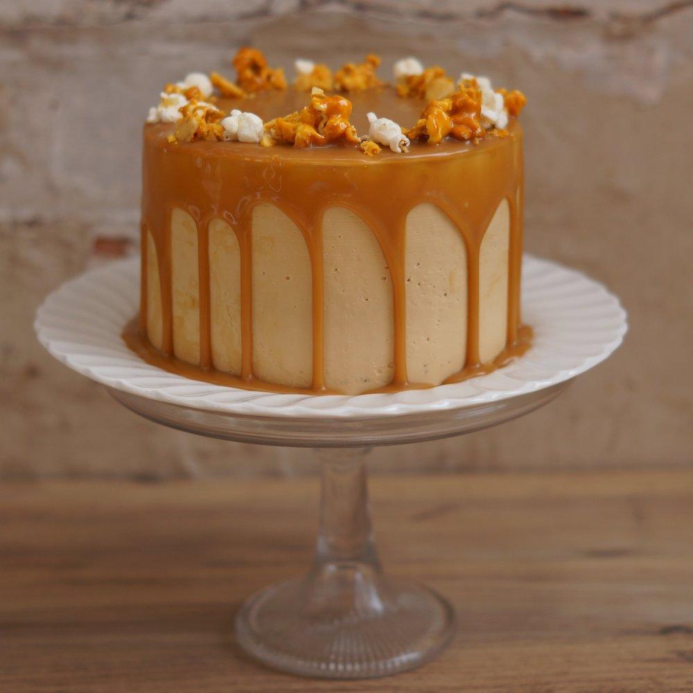 Butterscotch popcorn cake