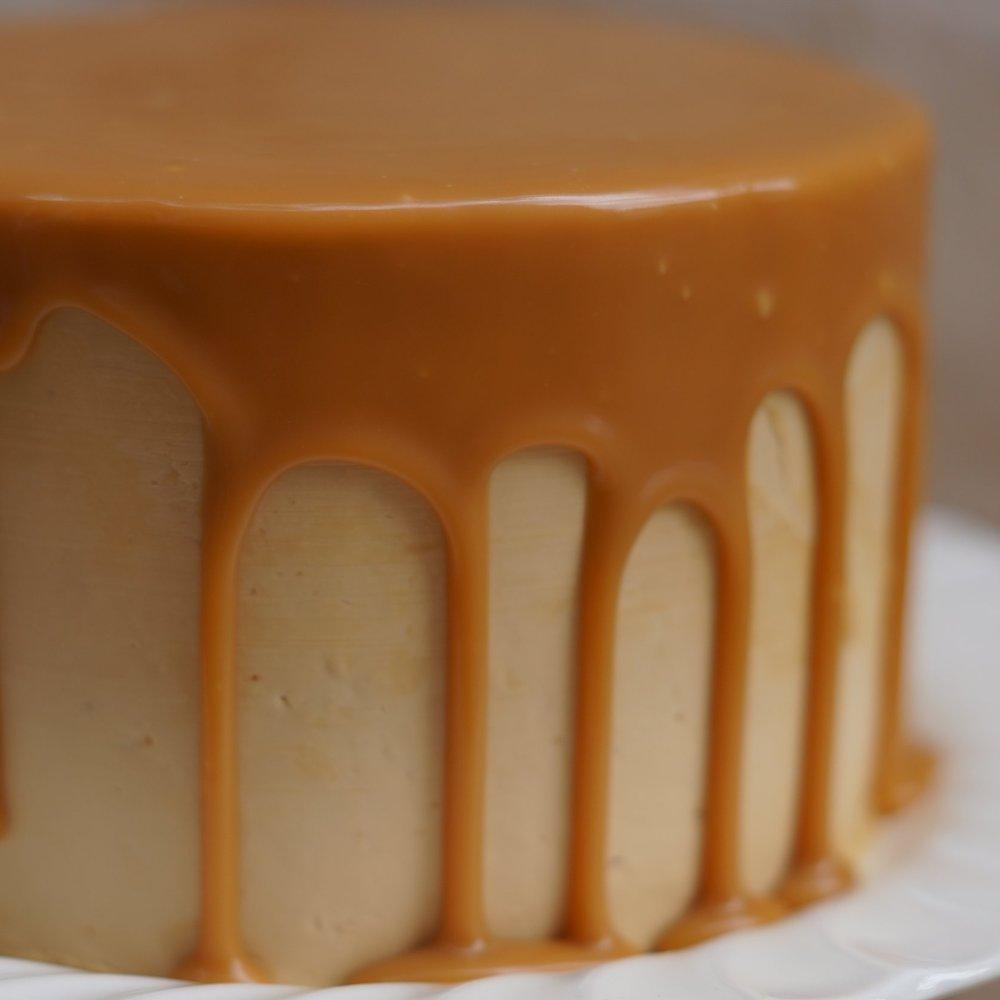 butterscotch cake detail