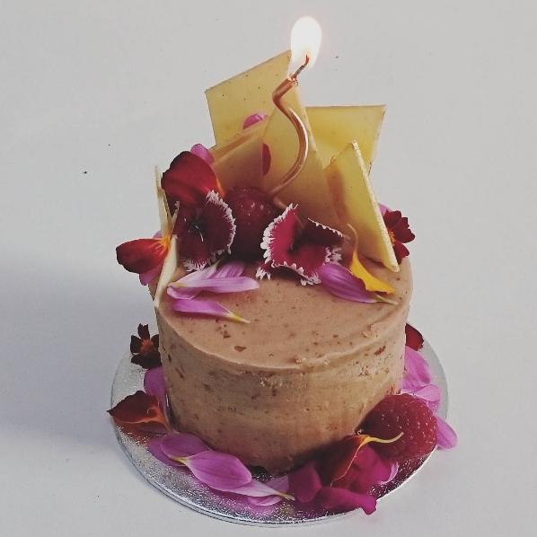 hazelnut praline miniature celebration cake