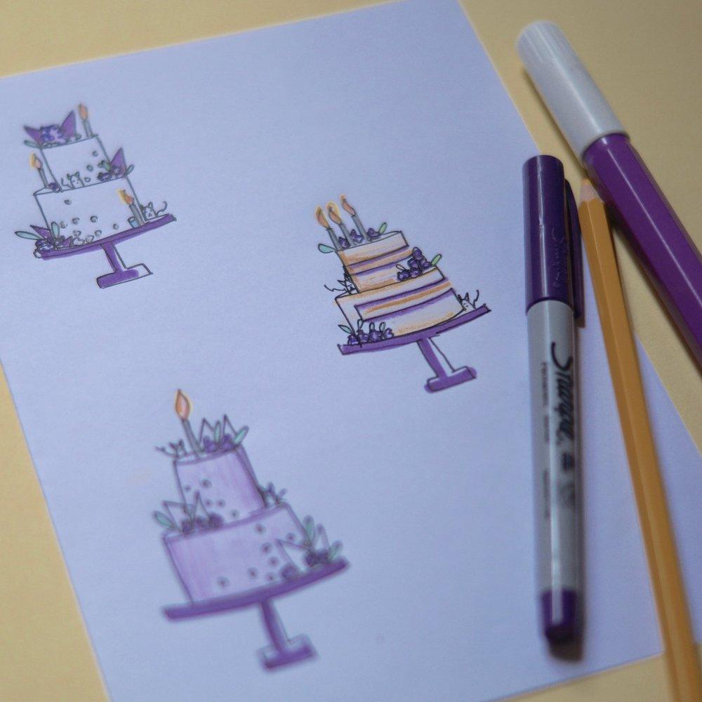 Design - 21st Birthday cake