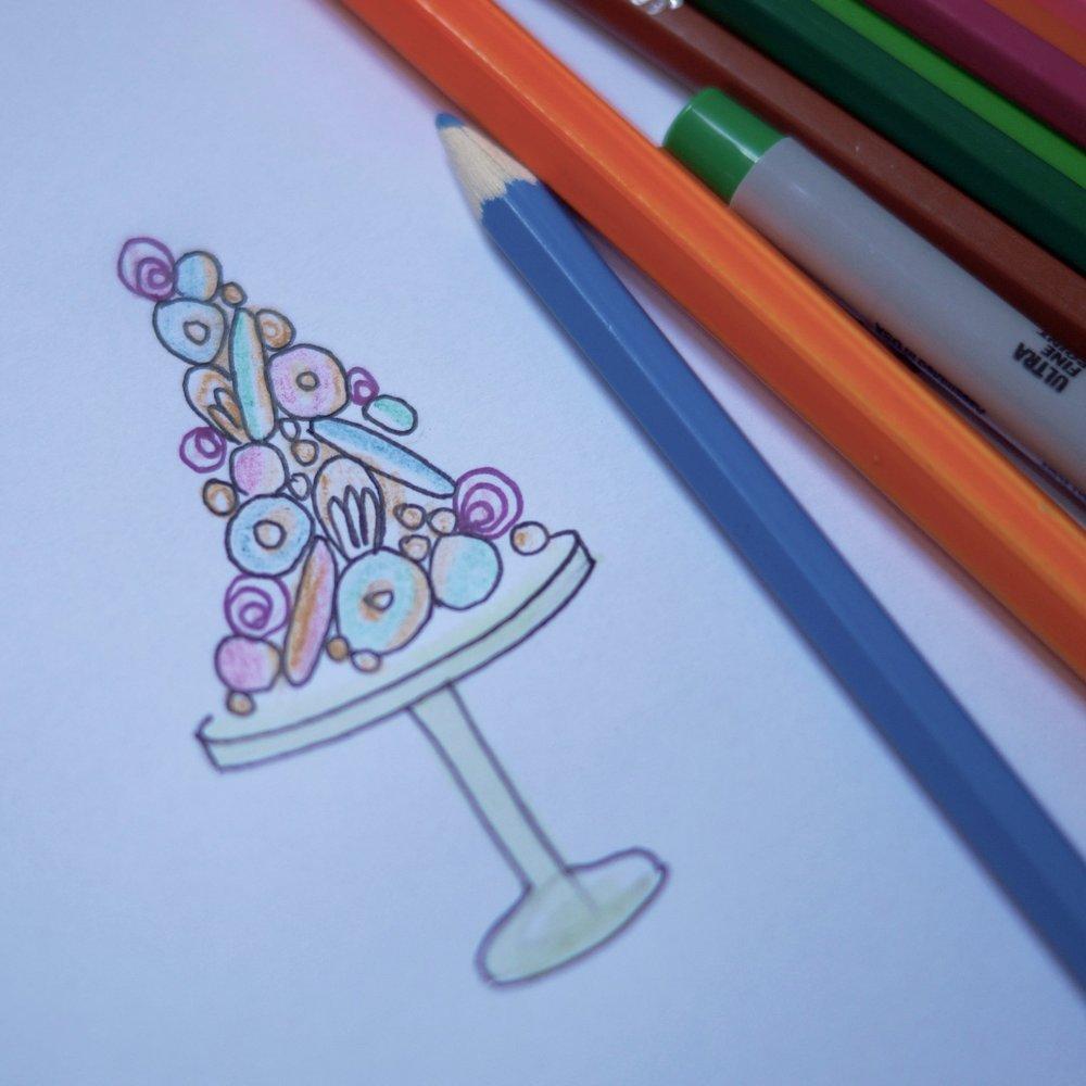 Design - Dessert Tower cake