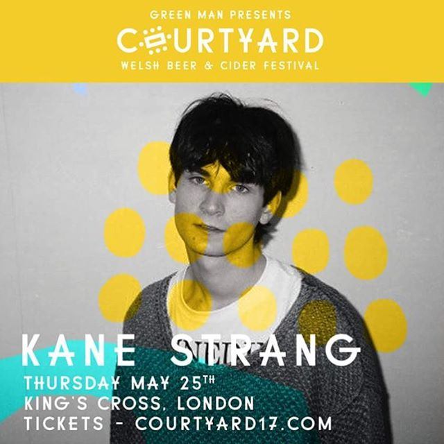 New Zealand's Kane Strang joins the Courtyard party, kicking things off on Thursday night in support of @pinegroveband and over 100 independent Welsh Beers & Cider!! Tickets on sale - courtyard2017.com 🍻 x