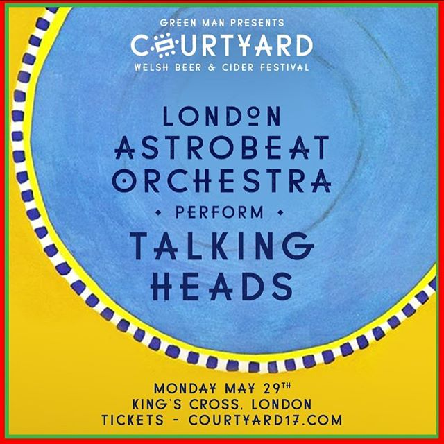 We've just added London Astrobeat Orchestra's tribute to TALKING HEADS to the Monday of this year's Beer Festival! Tickets are £10 but be quick!! X