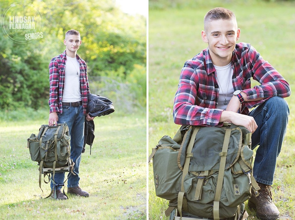 Bow High School New Hampshire Senior Portrait Army